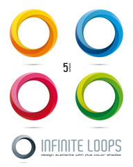 Infinite Loop Vector Design Elements