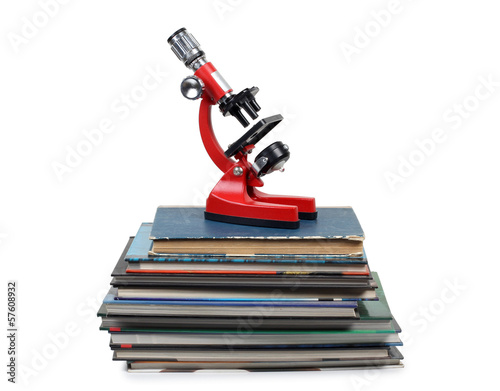 Microscope on books