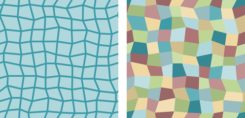 Set of 2 uneven square seamless background tiles