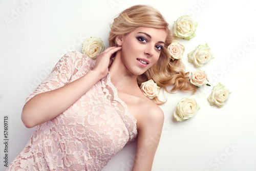 beautiful delicate blonde girl