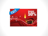 abstract diwali discount card template