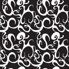 Abstract Doodles  Seamless Pattern