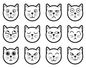 Cat smiley icons