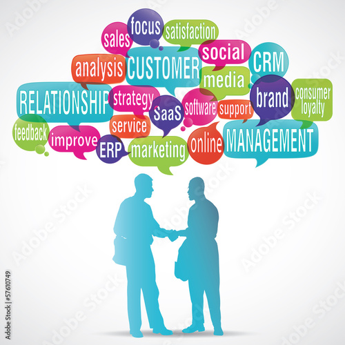 word cloud bubbles : crm silhouette