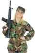 Soldat in Uniform mit Gewehr