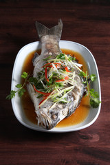 Steamed fish soy sauce