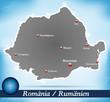 Inselkarte von Rumaenien Abstrakter Hintergrund in Blau