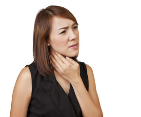 Women sore throat.