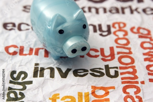 Piggy bank and invest concept