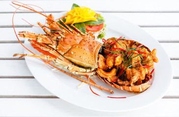 Gourmet spice curry lobster.