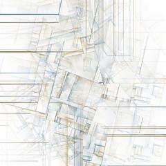 Abstract Art Reminiscent of City Blocks