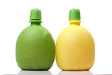 Plastic Orange and Lemon Juice bottles