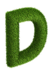 Natural grass letter D