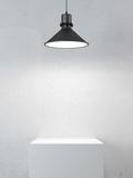 Fototapety podium and lamp