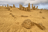 Pinnacles in the Australian Nambung desert