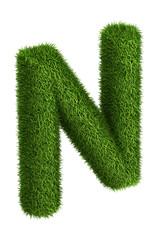 Natural grass letter N