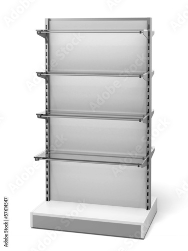White Retail Store Shelves