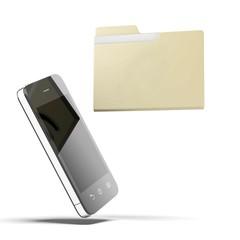 Folder and phone