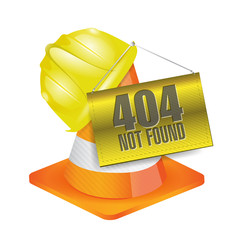 404 not found construction concept illustration