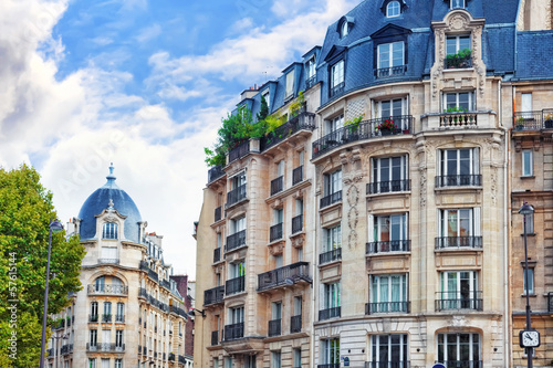City, urban  view on building in  Paris.France.