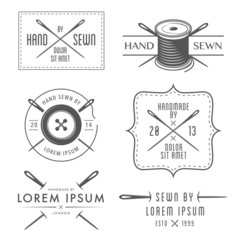 Set of vintage tailor labels and emblems