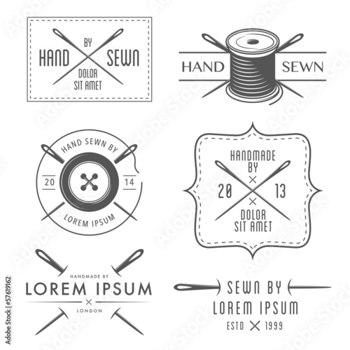 Set of vintage tailor labels and emblems - 57619162