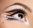 close-up of beautiful womanish eye