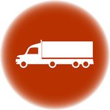 brown round icon with american truck silhouette