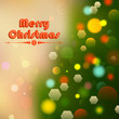 Christmas Background with Bokeh Effect