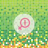 female symbol on green moses poster