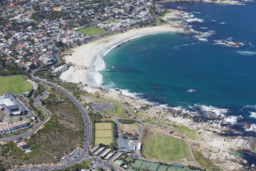 Aerial view of Camps Bay, Cape Town, South Africa