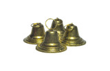 Four metal christmas bells