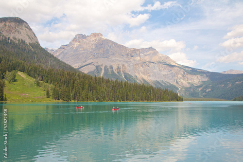 Emerald Lake and Canoes