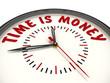 Time is money. Часы с надписью
