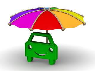 Автомобиль под зонтом. Концепция защиты