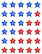 Fünf Sterne Bewertungssystem - Blau Rot
