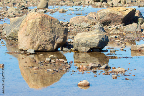 Hudson Bay Rocks and Reflection