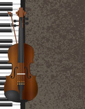 Fotoroleta Piano and Violin Bow with Background Illustration