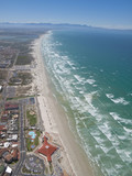 Aerial view of Muizenberg beach, Cape Town, South Africa