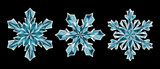 abstract crystal snowflakes set, Christmas ornament