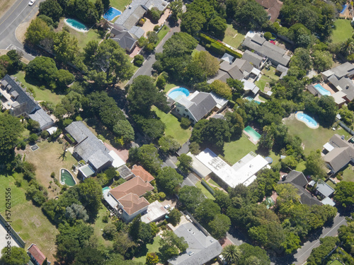 Aerial view of Upmarket neighborhood, Cape Town, South Africa