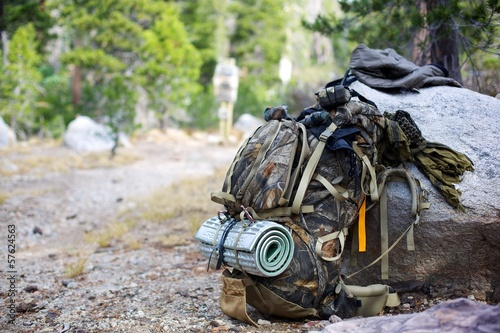 Foto op Aluminium Jacht Mountaineering Backpack