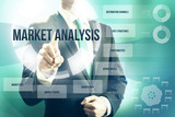 Market analysis concept man selecting plan