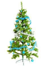 christmas tree isolated on white