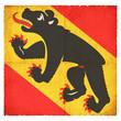 Grunge-Flagge Bern (Schweiz)