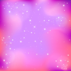 Stars on a lilac background