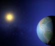 Mondo terra sole globo Usa America