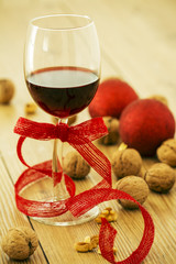 Red WIne and Christmas Food