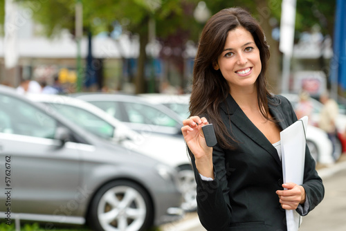 Car sales woman