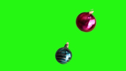 Christmas background with Christmas ball fall down